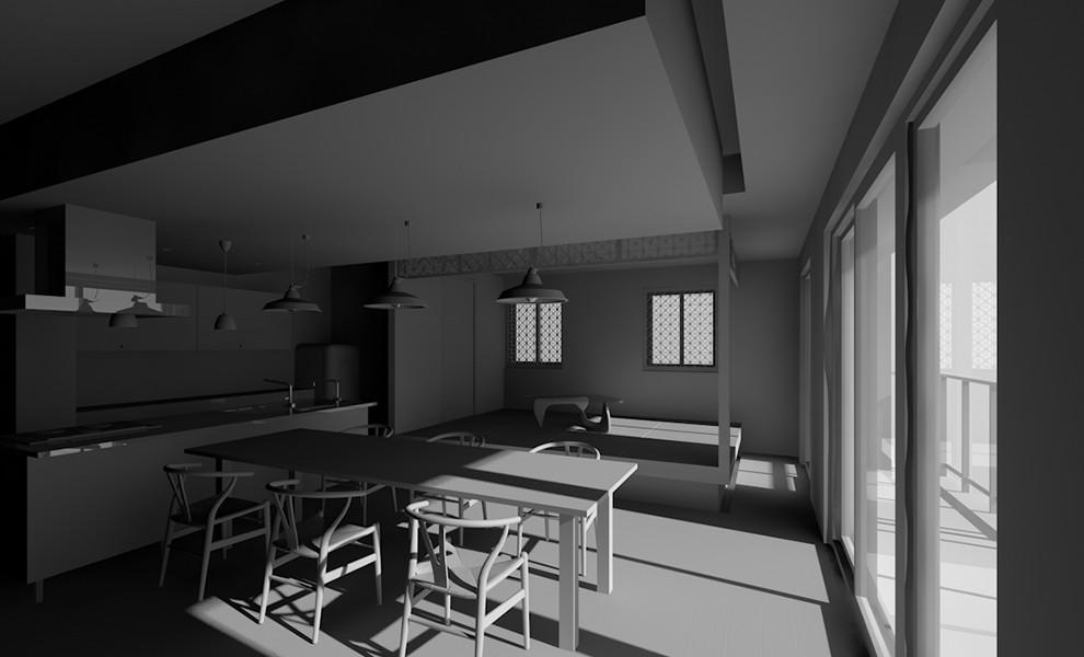 室内の日当りシミュレーション